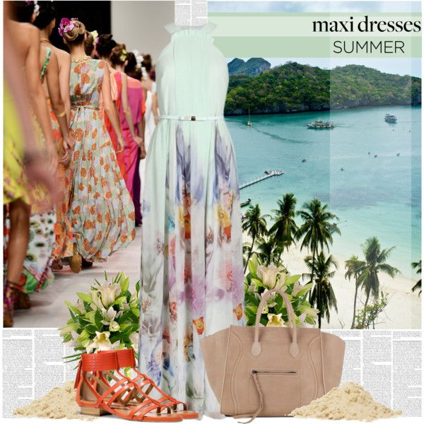 """""""Maxi Dresses Go With the Flow"""" by bklana on Polyvore"""