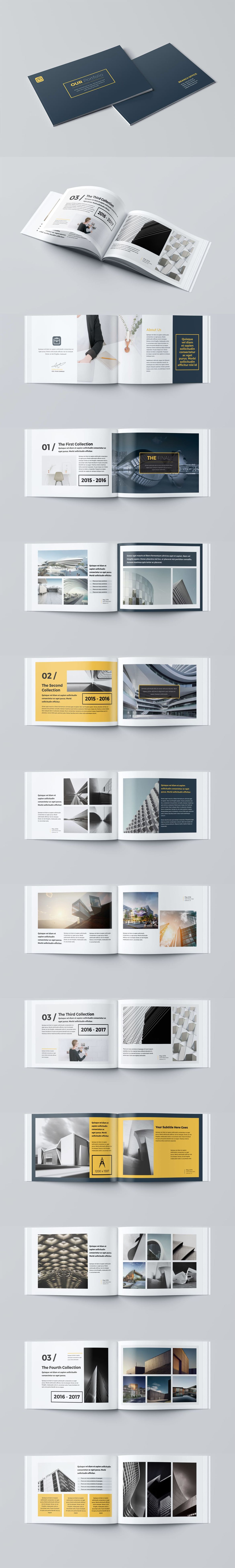 Our Portfolio Architecture 24 Pages A4 & A5 Template ... Architecture Portfolio Layout Indesign