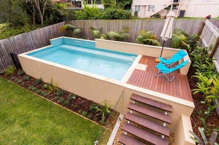 Small Pool Deck Plans Elegant 35 Small Backyard Swimming Pool Designs Ideas You Ll Love Small Pool Design Small Swimming Pools Swimming Pools Backyard