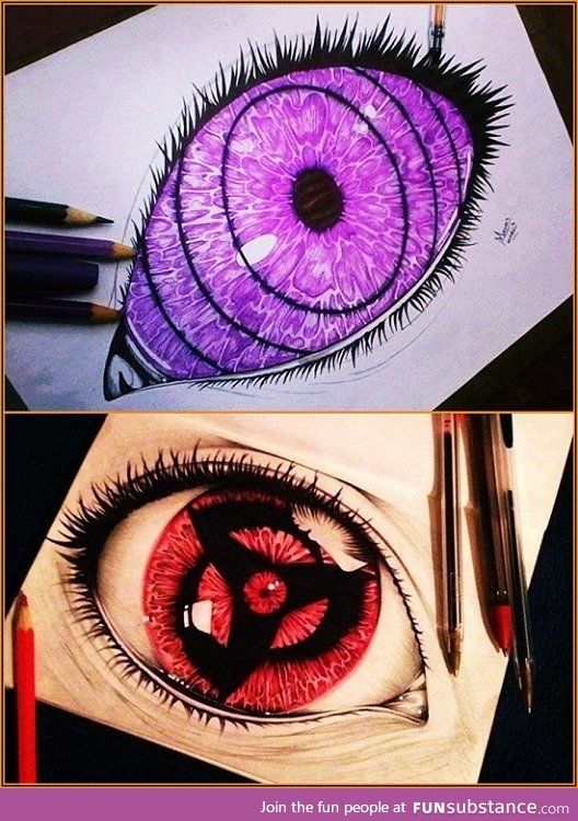 Mangekyou Sharingan Tattoo : mangekyou, sharingan, tattoo, Anime, FunSubstance.com, Naruto, Tattoo,, Eyes,, Mangekyou, Sharingan