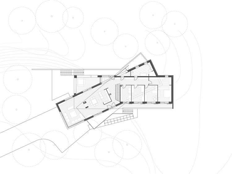 Twisting axis - Twin Houses by Ekler Architect Architectural Plans - fresh blueprint architects cape town