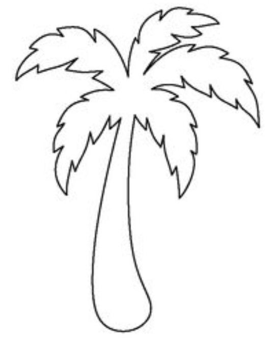 Palm tree template | Munchkins&Peanuts in 2018 | Pinterest | Palm ...