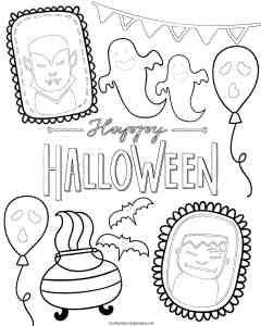 Free Halloween printables for kids. Halloween coloring