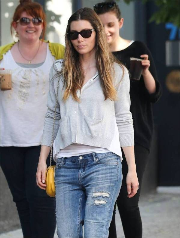Jessica Biel wears Tom Ford eyewear