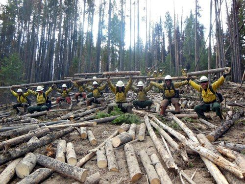 """""""The Lone Peak Hotshots after a long wildland fire season. A good portion of our crewmembers use CrossFit to train in the winter, working out at boxes from Park City, Salt Lake City, Long Beach and Charleston.""""    Sergio Lara, Salmon, Idaho."""