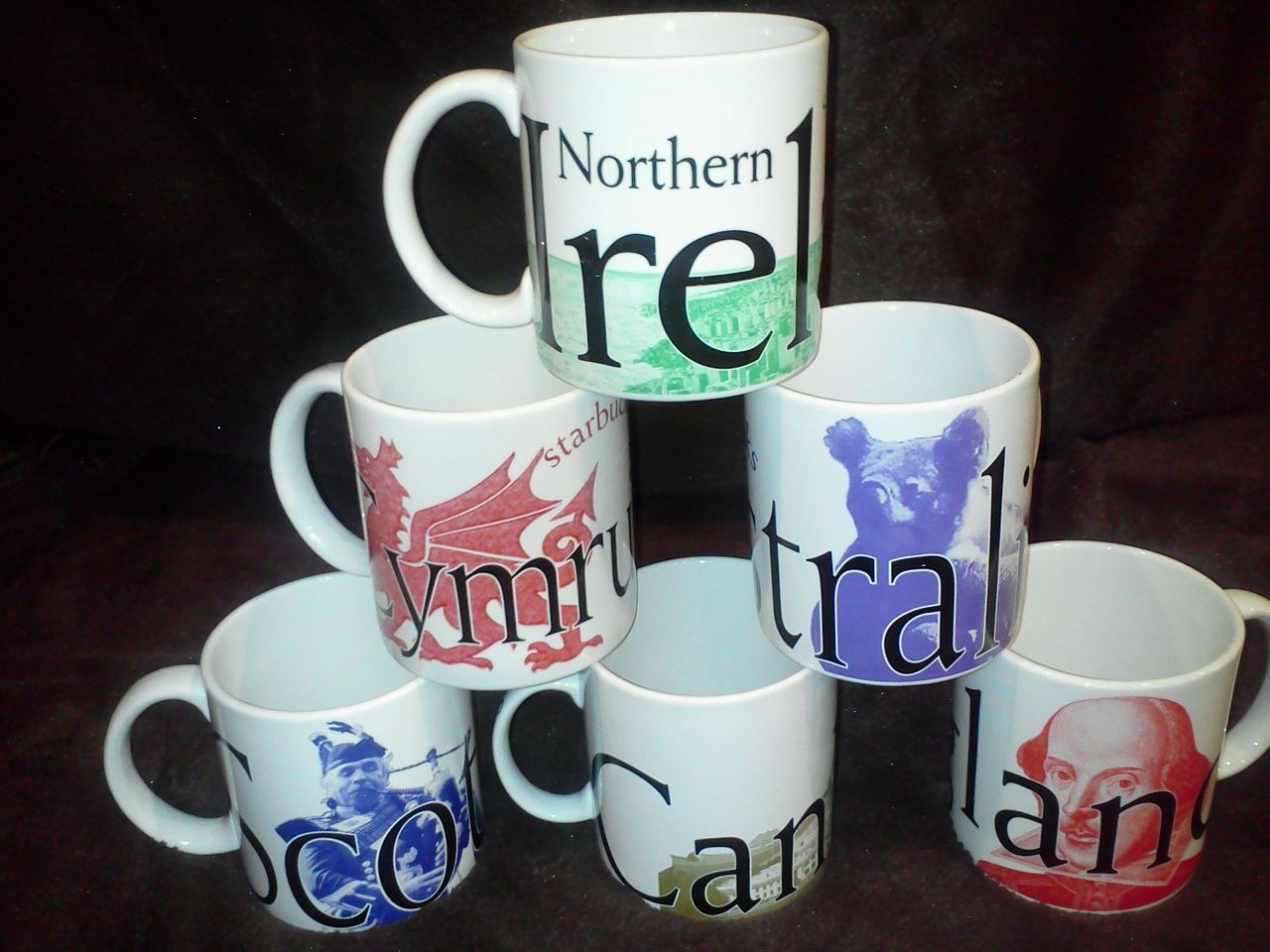 Starbucks Country Mugs (Scotland, Canberra, England, Wales