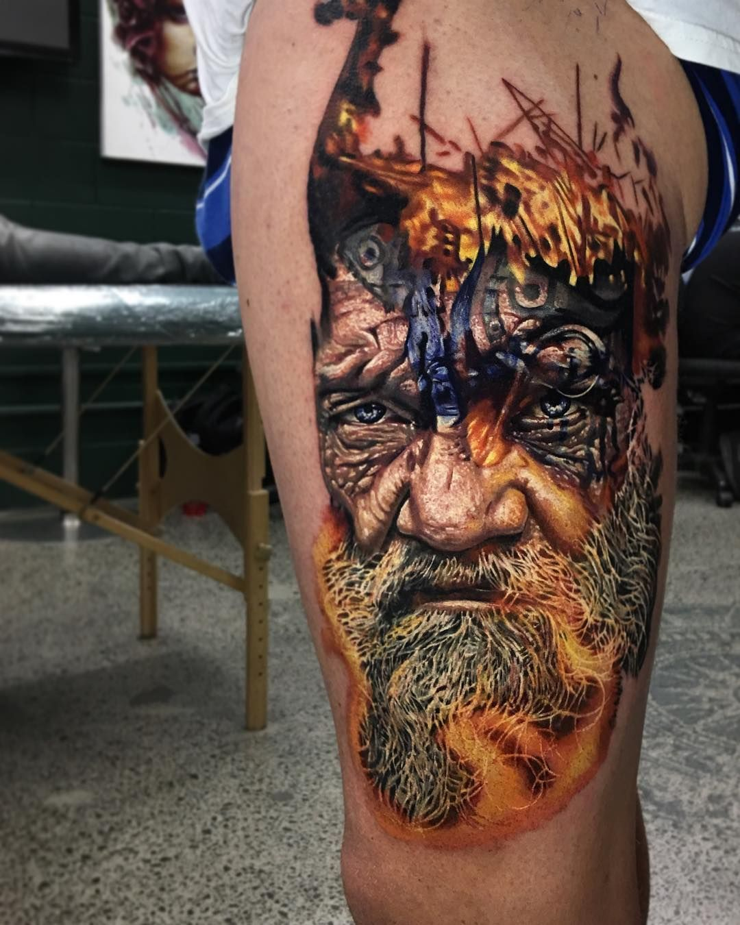 Perfect Color Tattoo Of Viking Piece Motive Done By Tattoo Artist Ben Kaye From Orewa New Zealand Viking Tattoos Incredible Tattoos Tattoos