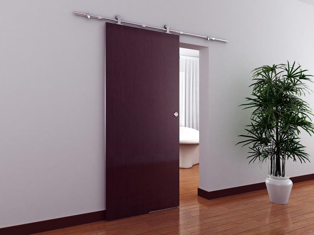 Tms woodenslidingdoor hardware modern for Metal barn doors