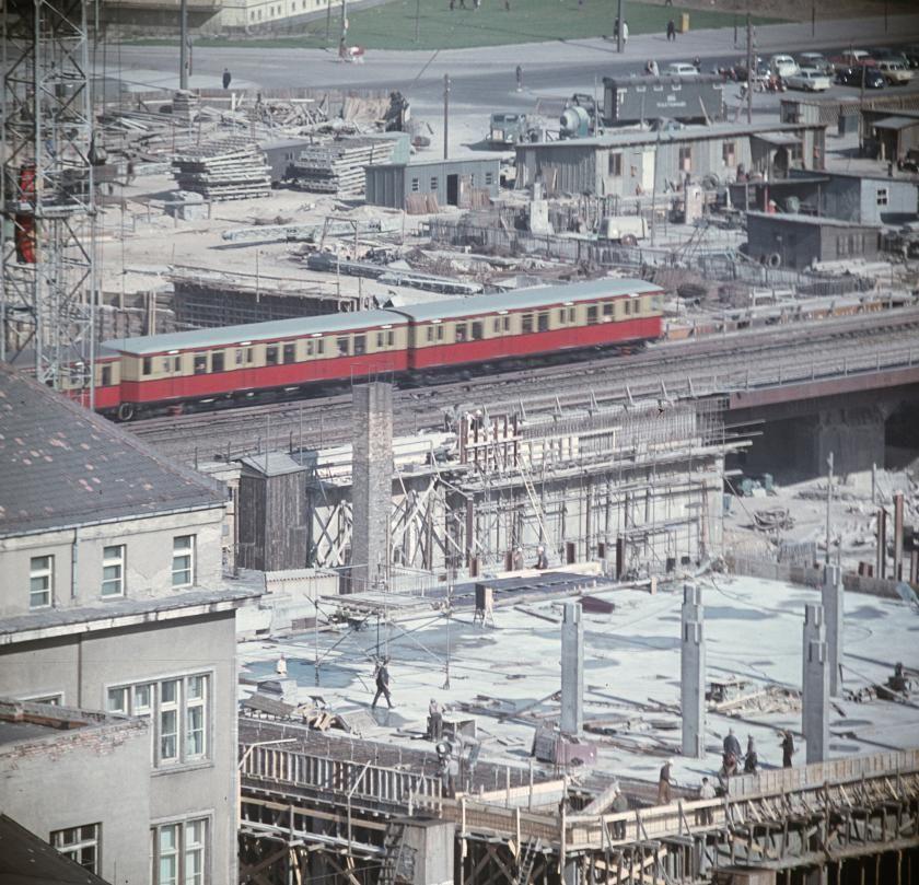 Baustelle Alexanderplatz 1968 Baustelle Berlin Berlin Stadt