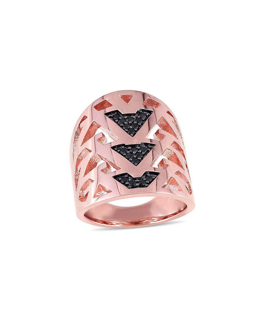 Look at this V19.69 Italia Black Sapphire & Rose Gold Openwork Ring ...