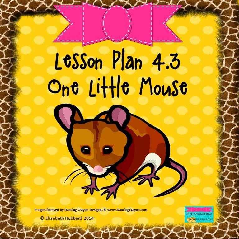 One Little Mouse Editable Lesson Plan Kindergarten, Reading - kindergarten lesson plan