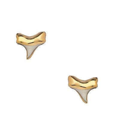 Janna Conner Tiny Shark Stud Earrings #maxandchloe