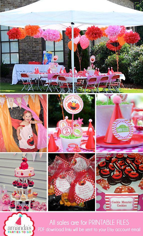 Girl Elmo Birthday Party Pink By AmandasPartiesToGo
