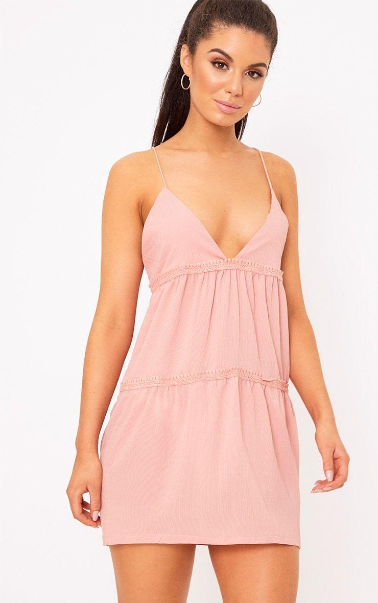 Abby Navy Slinky Swing Dress ($6.24) liked on Polyvore