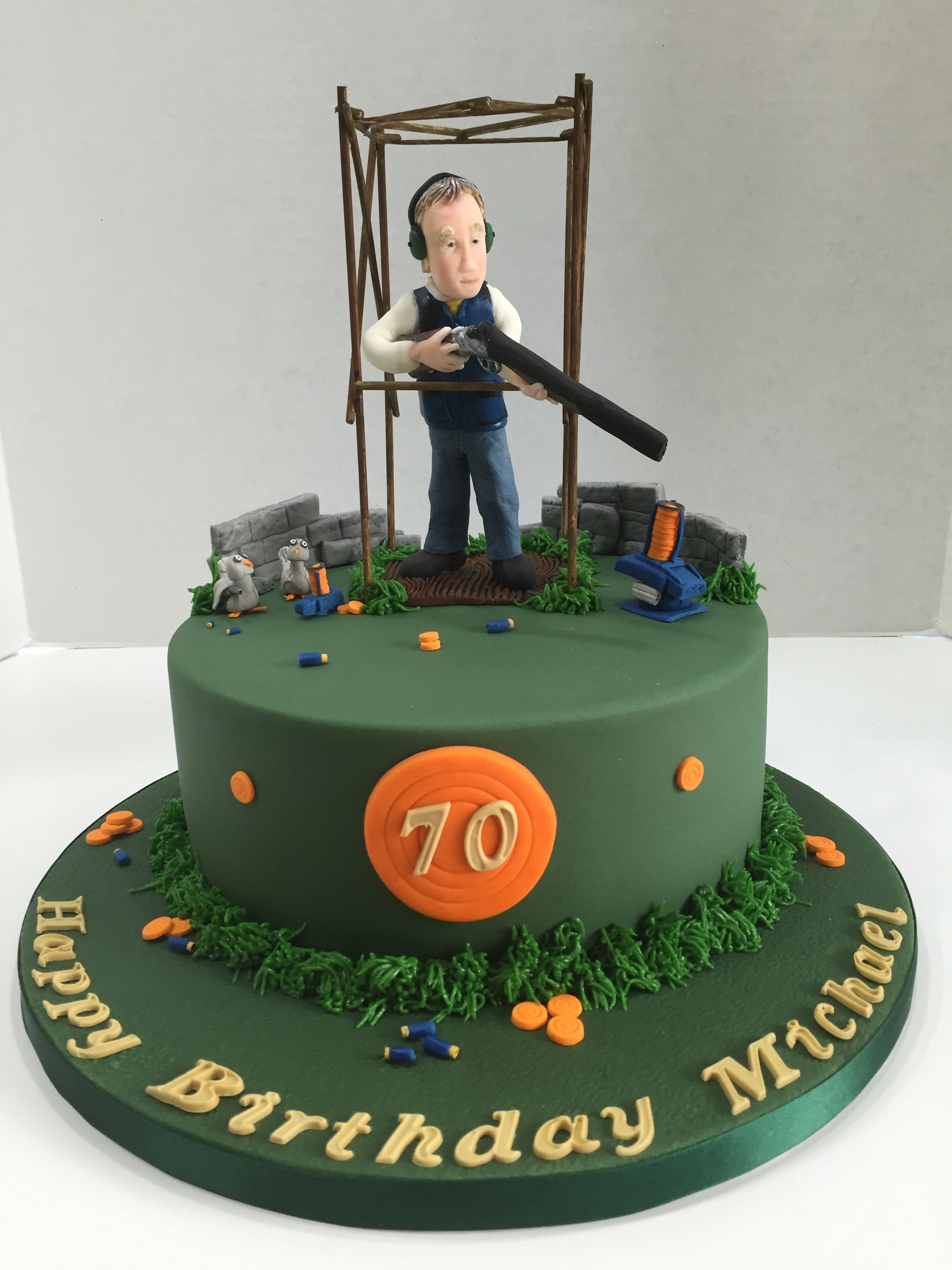 Clay Pigeon Shooting Cake June 2016 Birthday cakes for