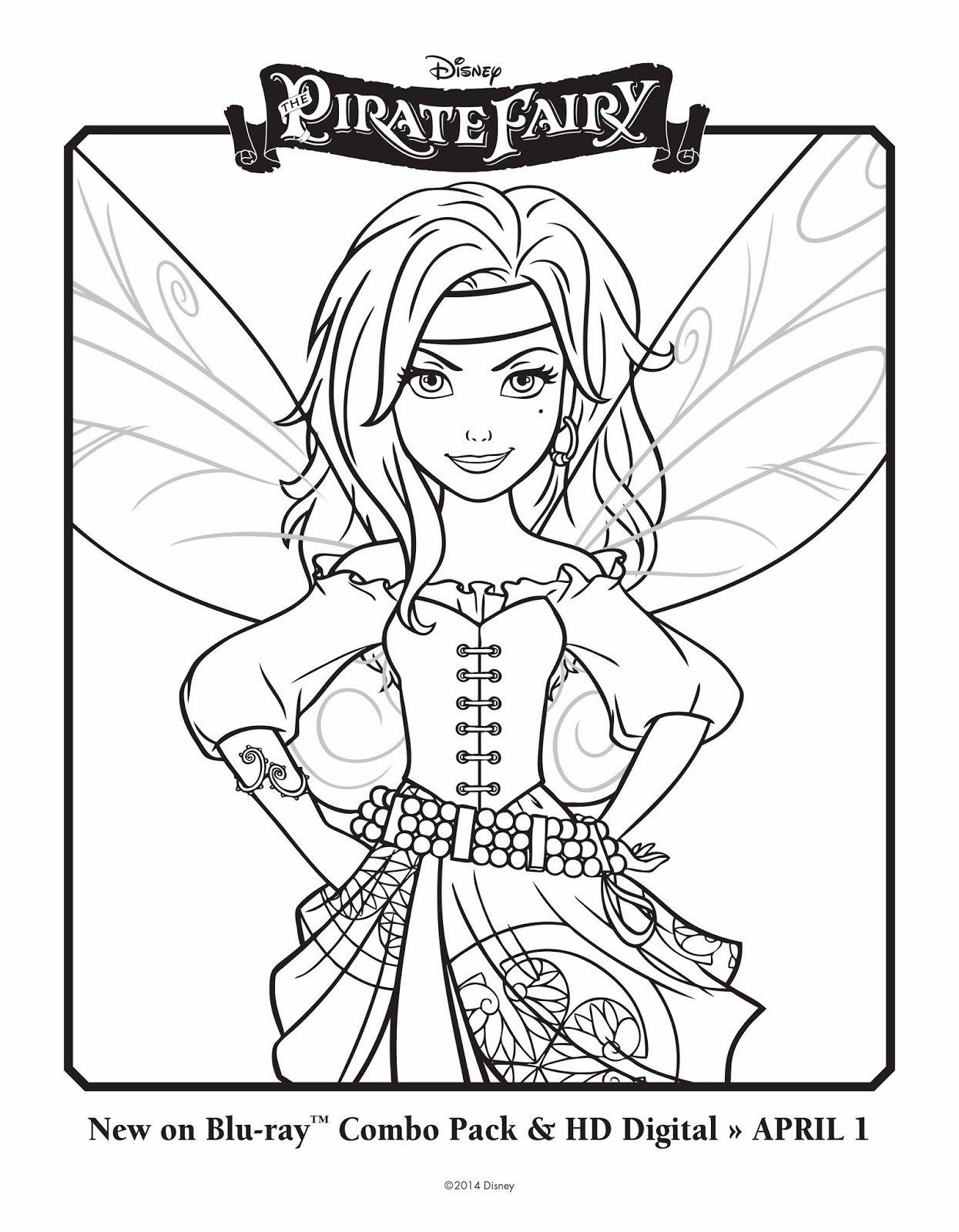 pirate fairy  Феи раскраска, Рисунки для раскрашивания