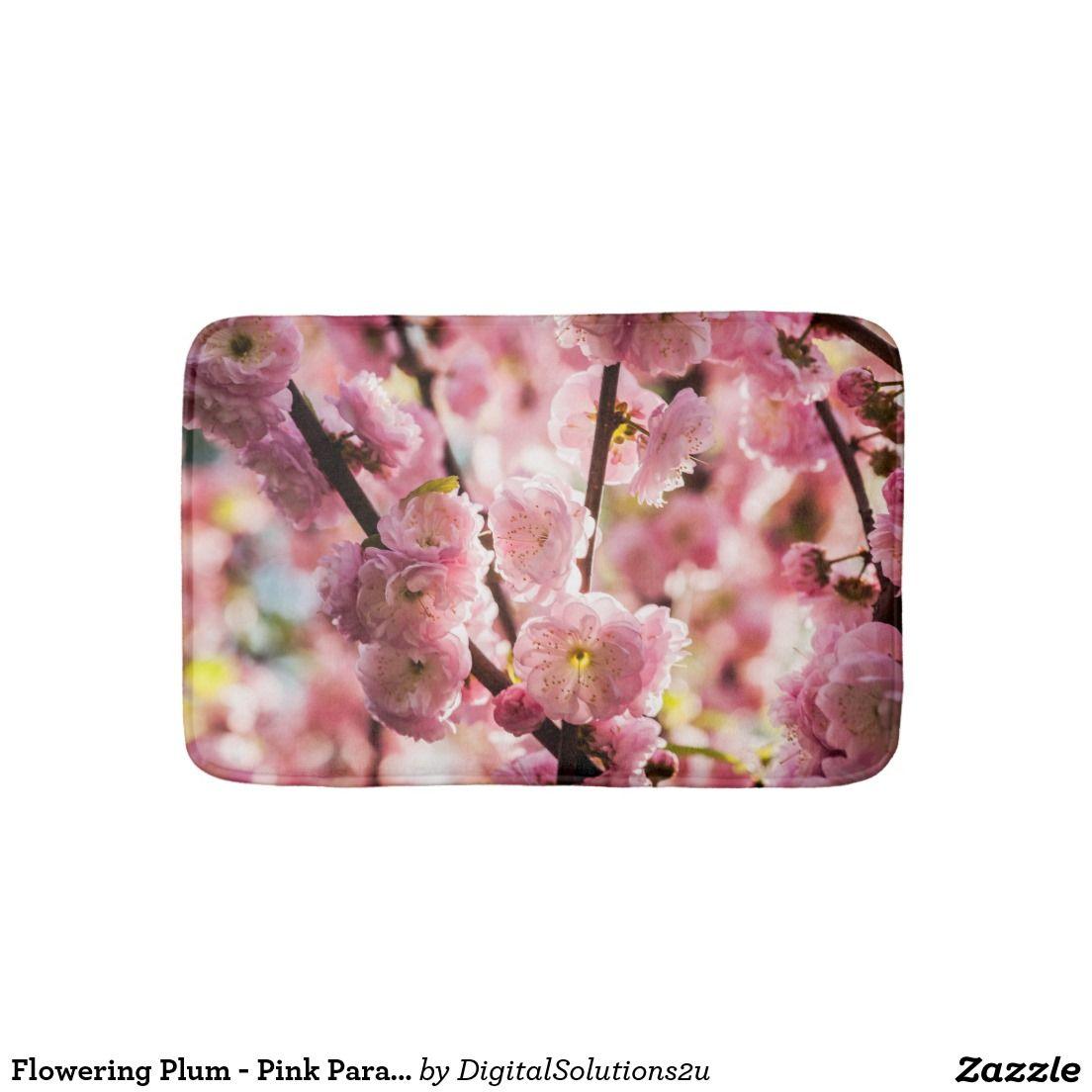 Flowering Plum - Pink Paradize Bath Mat