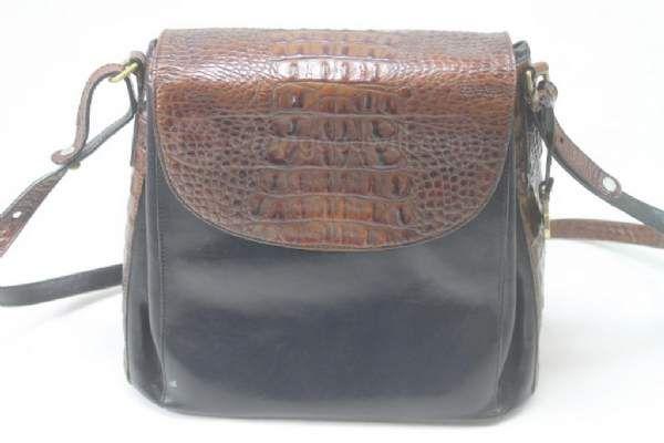shopgoodwill.com: Brahmin Black/Brown Leather Purse