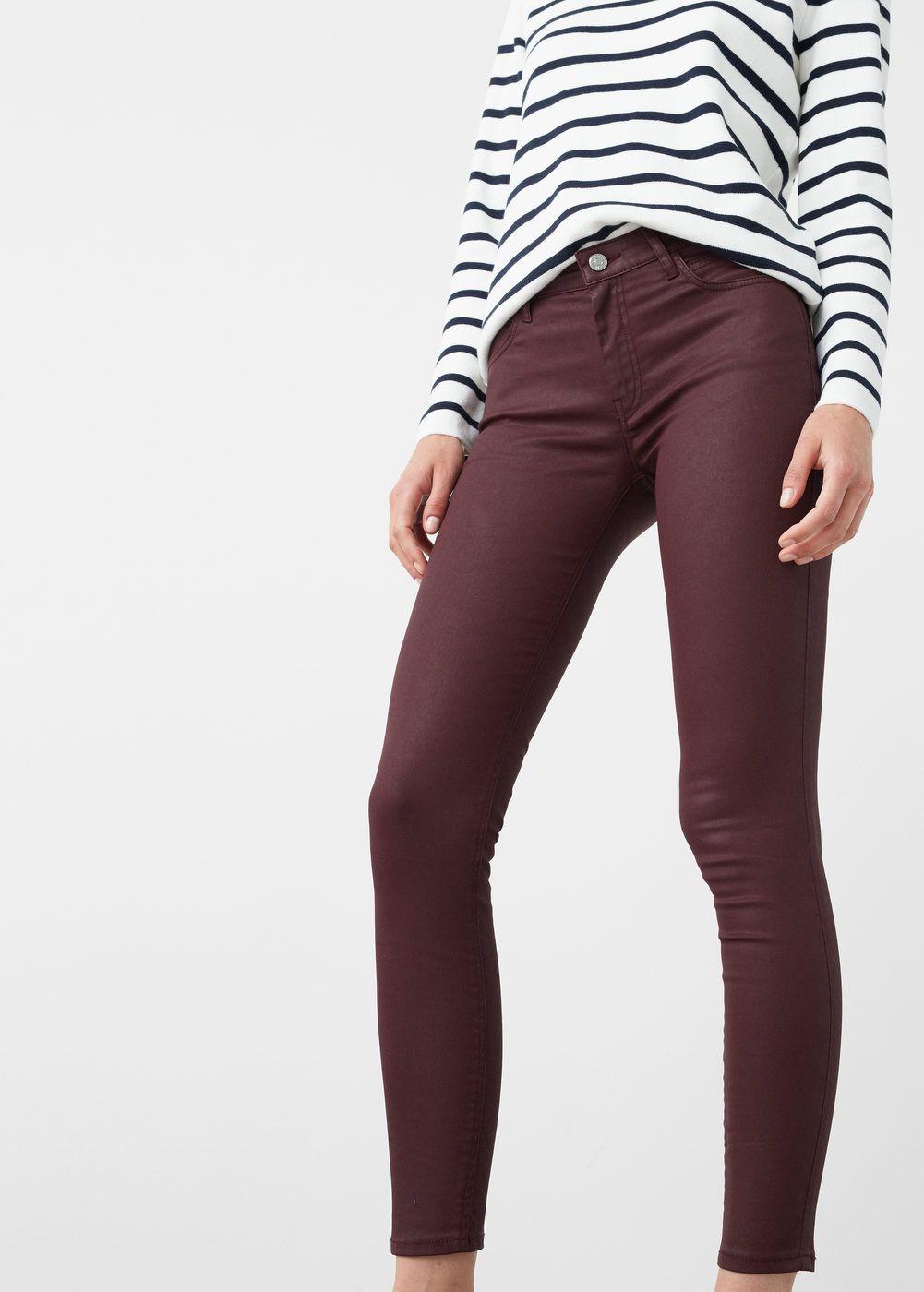 ce52311f4c8 Jeans skinny belle encerados - Mujer