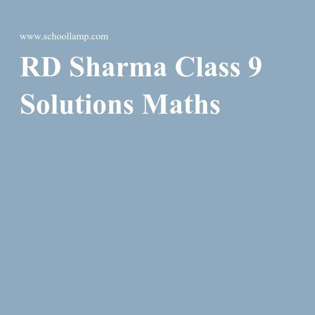 Rd Sharma Class 9 Free Ebook Download