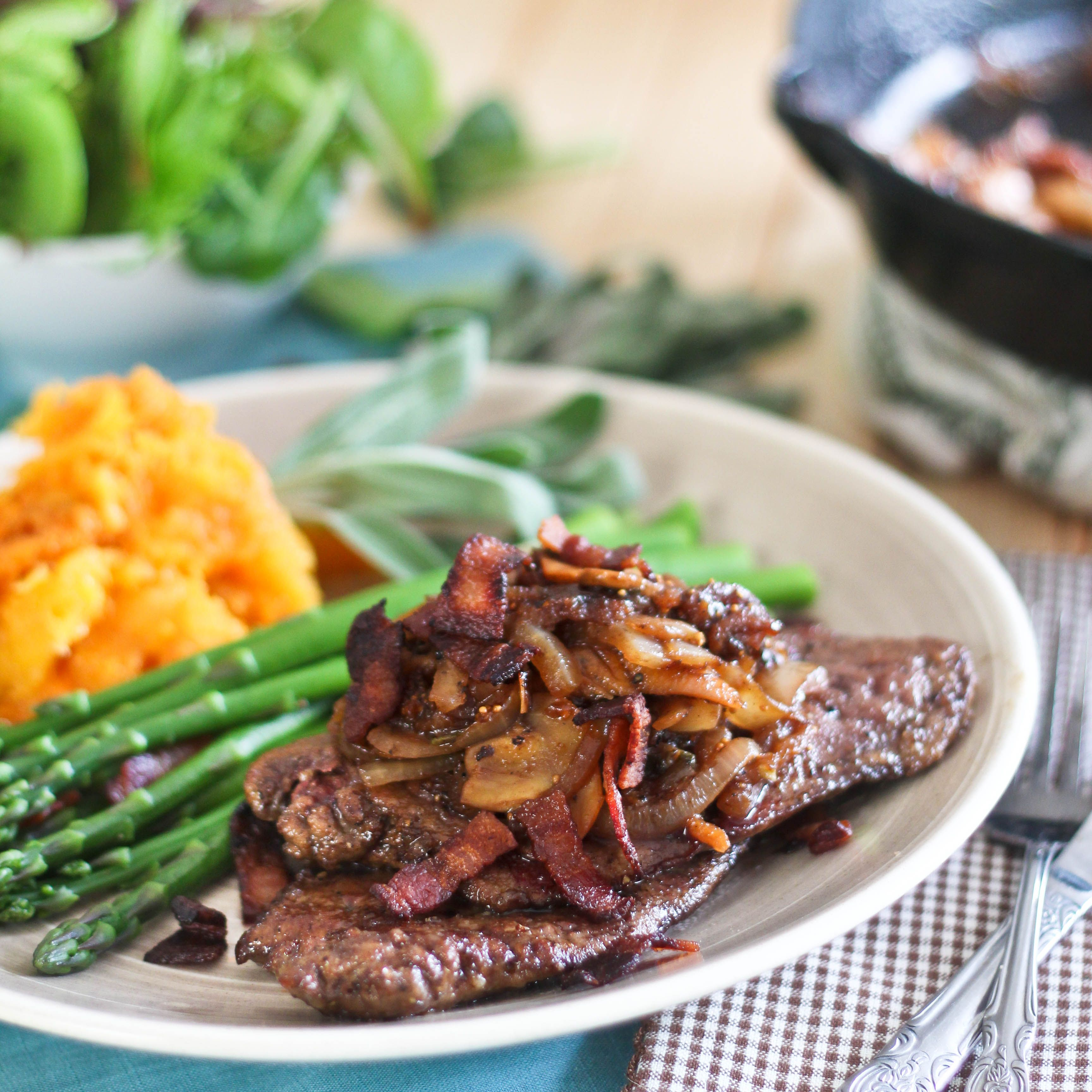 Beef Liver With Fig Bacon And Caramelized Onion Compote Or The Ultimate Beef Liver Recipe Recipe Liver Recipes Recipes Beef Liver