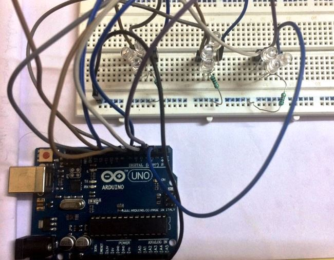 Terrific Arduino Based 3 Way Traffic Light Controller Arduino Projects Wiring 101 Capemaxxcnl