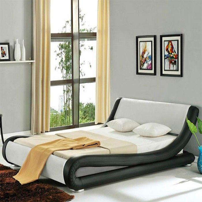 Roma Italian Modern Designer Leather Bed