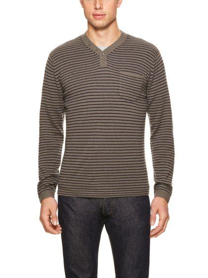 Cashmere Stripe Henley by Autumn Cashmere on Gilt.com