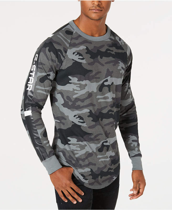 fd7055b7 G Star Men's Long-Sleeve Camo T-Shirt, Created for Macy's | Products ...