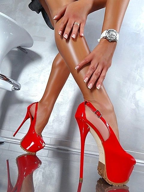 79487d2e75c vibrant red ultra high peep-toe platform heels  3
