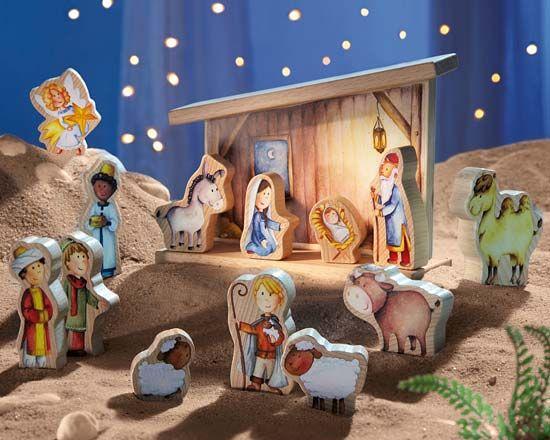 Des idées pour une crèche de Noël pour enfants?   Creche de noel