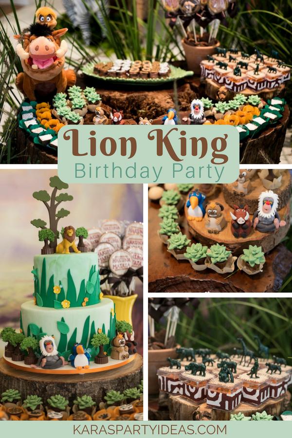 Lion King Birthday Party Kara S Party Ideas Lion King Birthday King Birthday Lion King Birthday Party Ideas