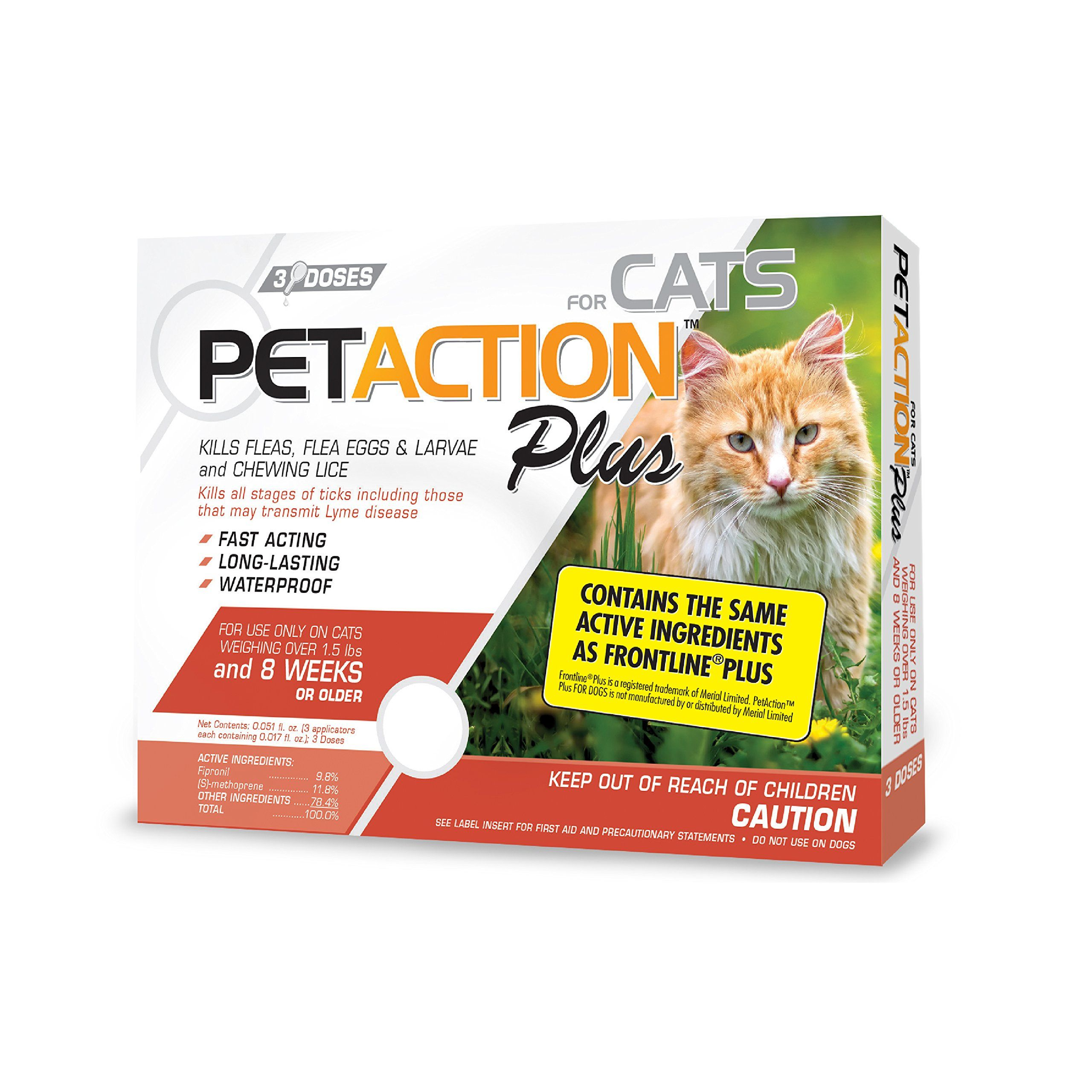 Petaction Plus Flea Catsideas Tick Treatment For Cats Tick Treatment Flea And Tick