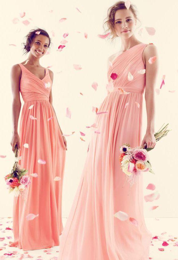 Beautiful Gowns in Light Peach and Pink | Vestidos de Fiesta ...