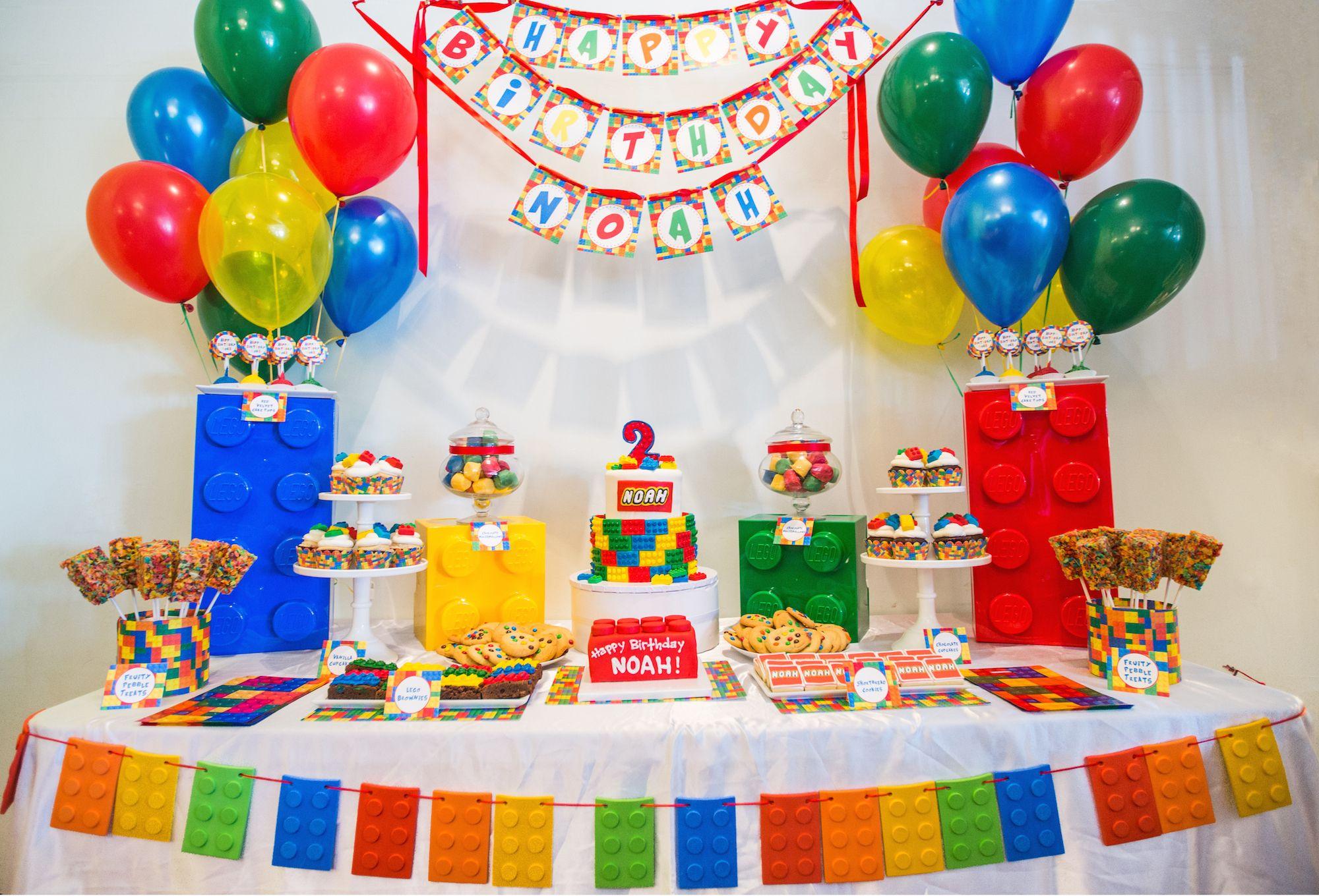 Lego Themed Birthday Dessert Table Sweetesbakeshop Desserttable Legothemedbirthday