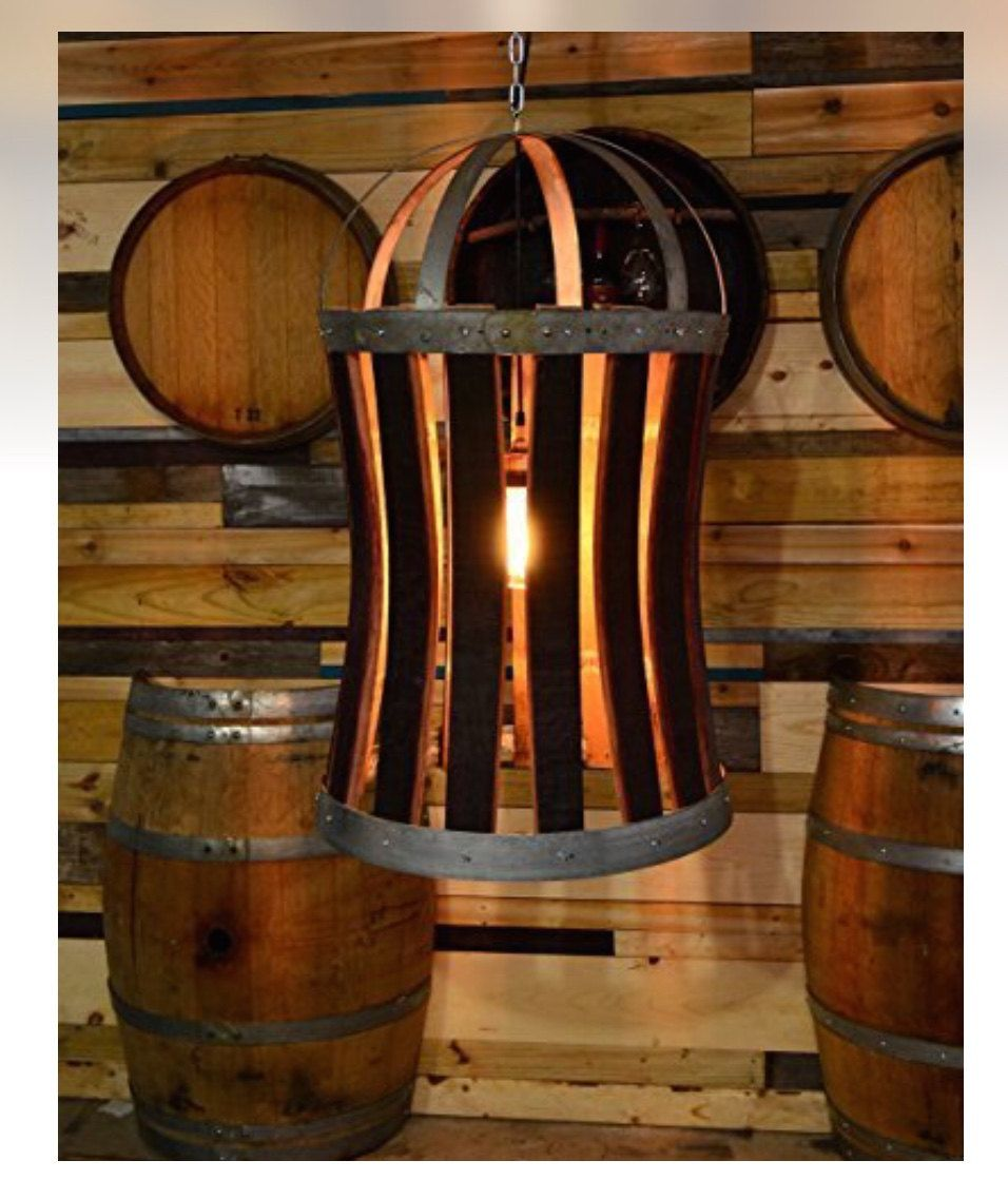Reclaimed wine barrel hoop light with seeded glass and edison bulb extra large wine barrel hoop light by custombarreldecor on etsy arubaitofo Image collections