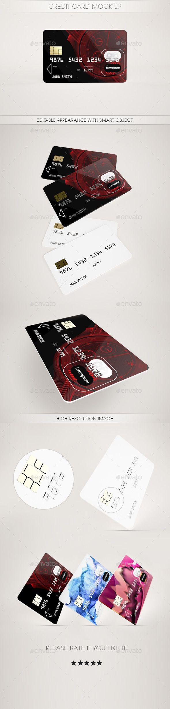 Credit Card MockUp #design Download: http://graphicriver.net/item ...