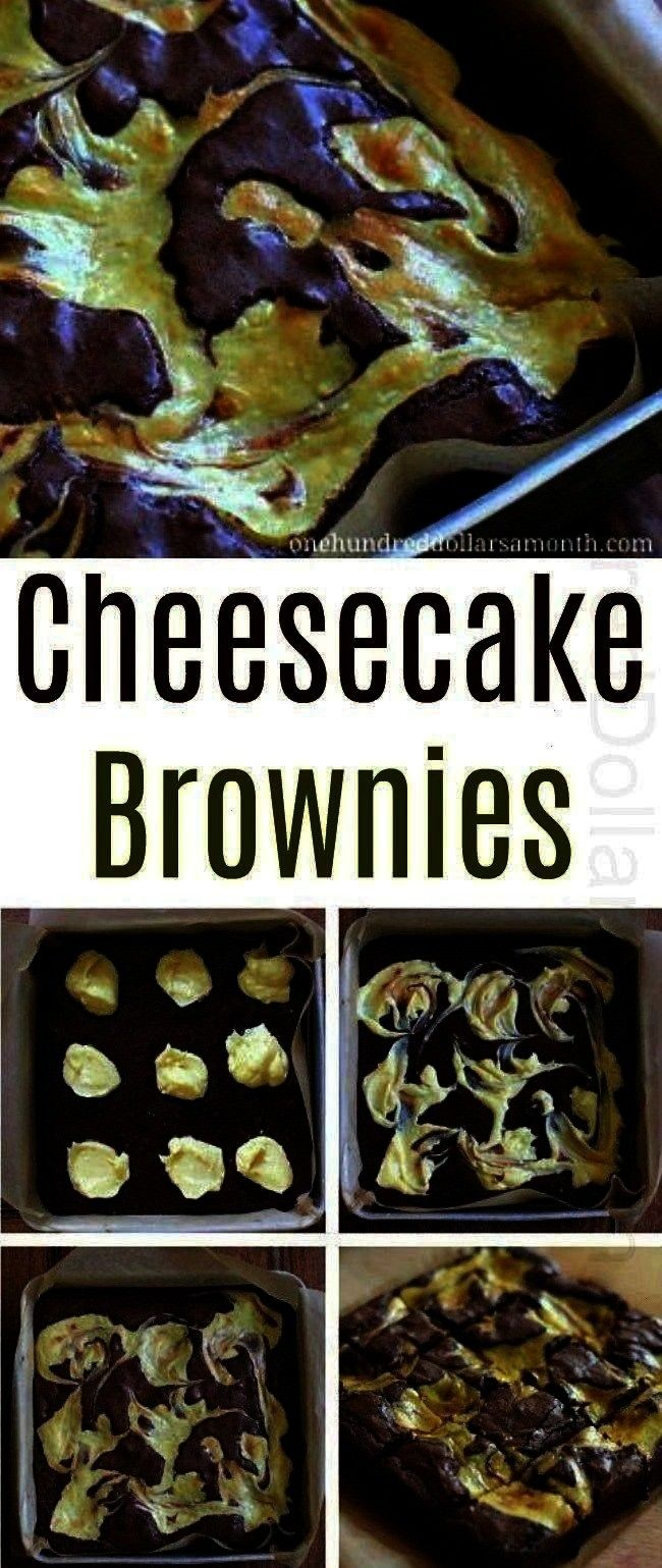 Brownies  One Hundred Dollars a Month Easy Dessert Recipes  Cheesecake Brownies  One Hundred Dollars a Month  Marbled cheesecake brownies Transform your boxed brownie mix...