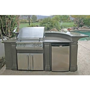 Selectcast Curved Custom Outdoor Kitchen C 02 Outdoor Kitchen Bbq Island Built In Bbq