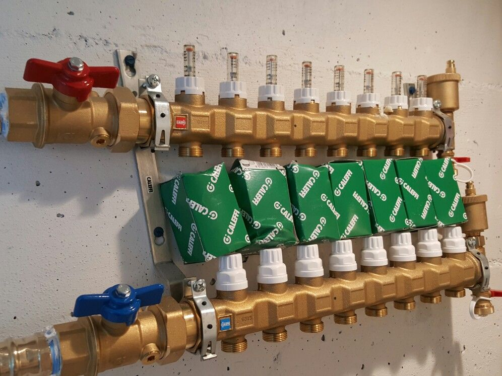 Caleffi Radiant Heating Manifolds And Actuators By 88hvac