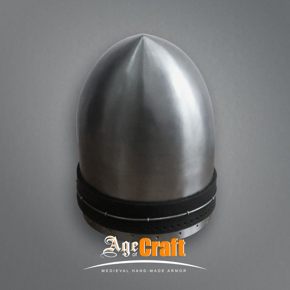Bascinet with a peak | Age of Craft | european helmet | Hats