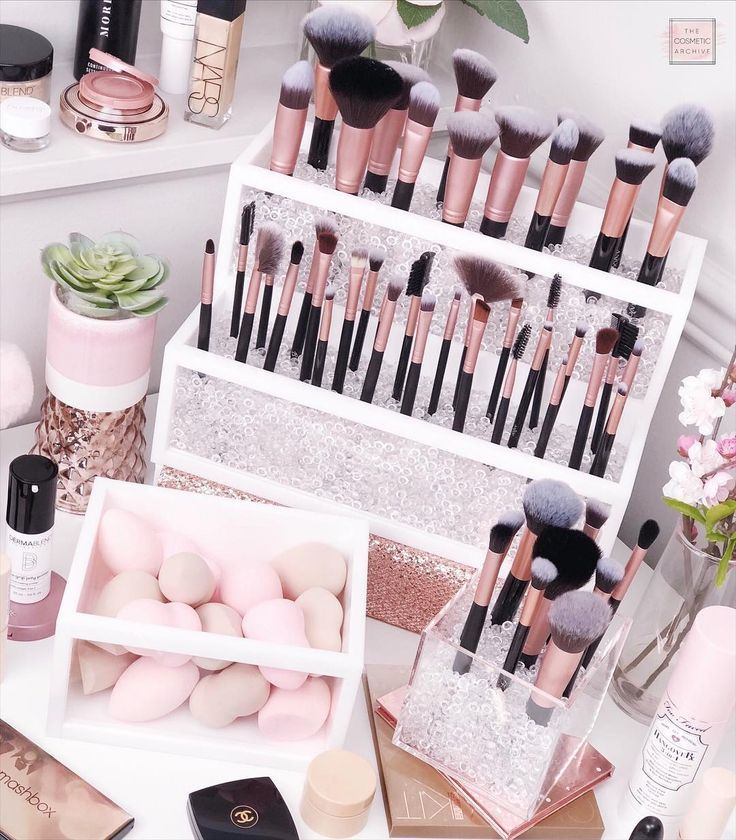 Cleo Brush Holder | Makeup Brush Holder | Acrylic Brush Holder | Makeup Organizer | Acrylic Makeup Organizer