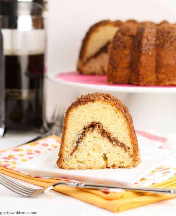 My Grandma S Sour Cream Coffee Cake Garnish With Lemon Sour Cream Coffee Cake Coffee Cake Coffee Cake Recipes