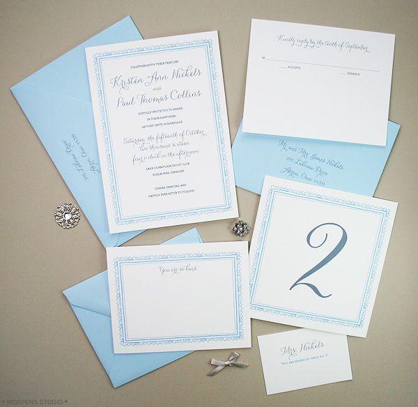 1920s Inspired Wedding Invitations Mospens Studio Invitaciones Clásicas Para Boda De