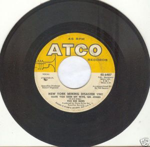 BEE GEES 45rpm New York Mining Disaster 1941 ATCO 6487 | Bee gees,  Disasters, Good music