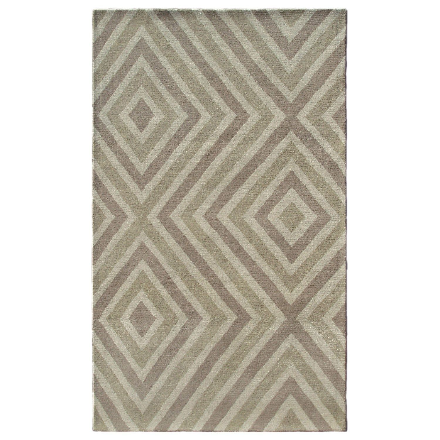 Zuel Beige Tufted Wool Rug