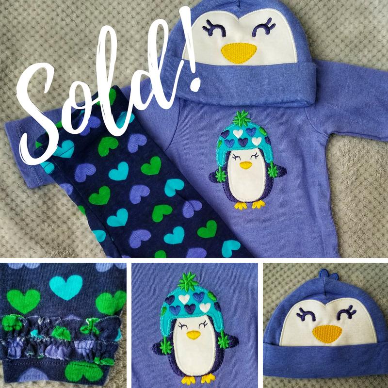 NEW Gerber Onesie newborn baby girl\'s 3-Piece bodysuit set - SOLD ...