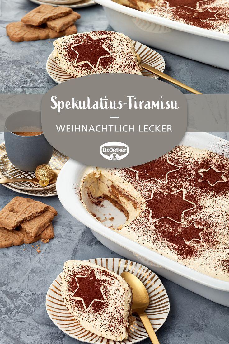 Spekulatius-Tiramisu | Recipe in 2019 | Dessert recipes, Desserts, Cooking recipes