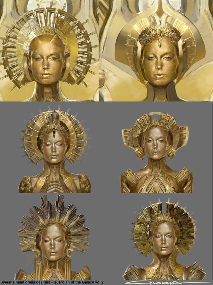 Alternate Ayesha Costume Designs For Guardians Of The Galaxy 2 S