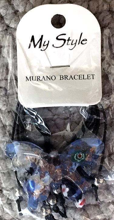 MY STYLE MURANO GLASS BUTTERFLY BEAD BRACELET NEW IN PKG #MyStyleMurano #Statement